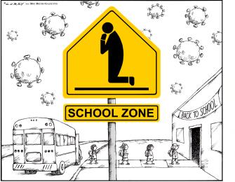 Editorial Cartoon U.S. coronavirus school reopenings