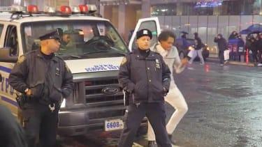 'Prankster' films Ellen 'dance dare' behind NYPD cops, gets literal pushback