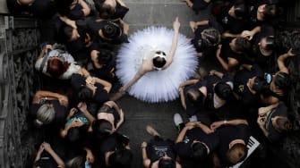 A ballerina in Rio de Janeiro.