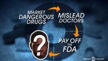The Daily Show declares war on (prescription) drugs