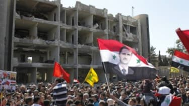 Syria bombing site