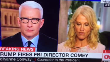 Anderson Cooper and Kellyanne Conway.