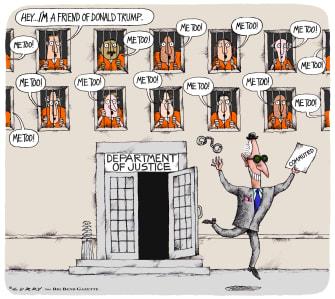 Political Cartoon U.S. Trump Roger Stone commutation