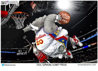 Political Cartoon U.S. GOP Democrats SCOTUS seat