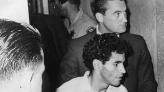 Sirhan Sirhan, captured after assassinating Robert F. Kennedy
