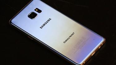 A Samsung Galaxy Note 7
