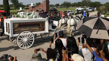 George Floyd memorial service.