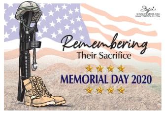 Editorial Cartoon U.S. Memorial Day sacrifice