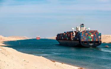Ship in Suez Canal
