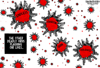 Editorial Cartoon U.S. random gun violence