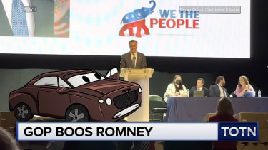 Mitt Romney escapes