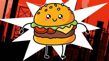 A cute burger.