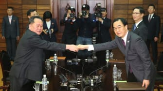 North and South Korean unification ministers.