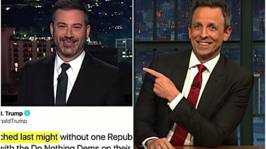 Kimmel and Meyers on Trump rally