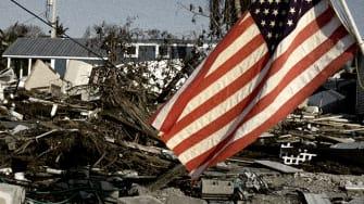 Hurricane destruction.