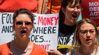 Protesters demand new gun laws