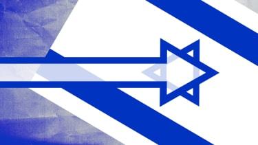 The Israeli flag.