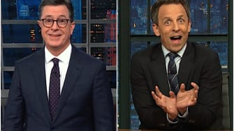 Seth Meyers and Stephen Colbert on Trump's post-blue wave blues