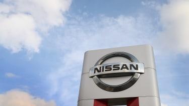A Nissan sign.