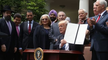 President Trump signs an executive order on religion