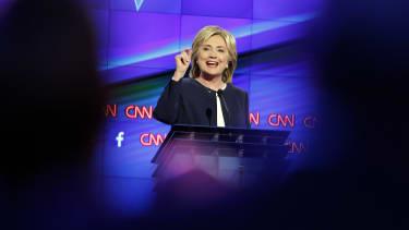 Hillary Clinton at the Democratic debate