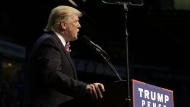 Donald Trump speaks in Washington