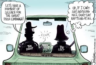 Editorial Cartoon U.S. rush limbaugh rip