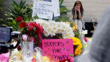 A memorial in Poway
