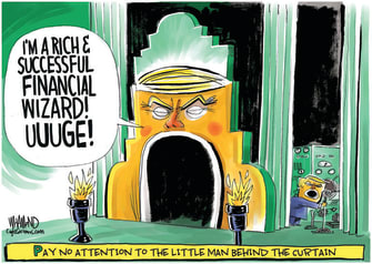 Political Cartoon U.S. Trump taxes Wizard of Oz