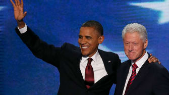 Clinton and Obama.
