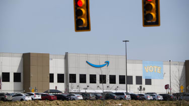 An Amazon warehouse in Alabama.