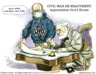 Editorial Cartoon U.S. BLM Civil War Appomattox