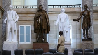 Confederate statues in the Capitol building.