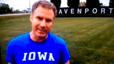 Will Ferrell stars in a series of pro-bono Milwaukee beer commercials of his own design filmed and airing in Iowa.