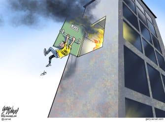 Editorial Cartoon U.S. small business COVID