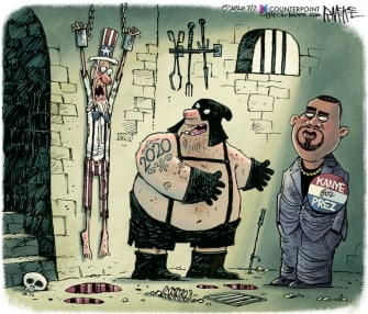 Editorial Cartoon U.S. 2020 Kanye