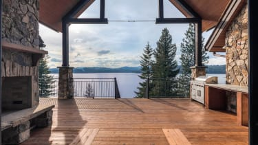 The view from a lake home.