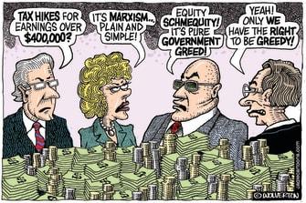 Editorial Cartoon U.S. covid stimulus tax wealthy