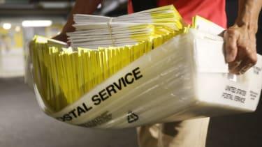 U.S. Postal Service delivers ballots