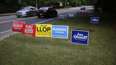 Campaign signs in Georgia.