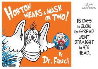 Editorial Cartoon U.S. dr seuss horton hears a who fauci covid masks