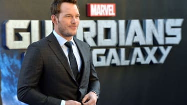 Chris Pratt at the Guardians of the Galaxy premiere