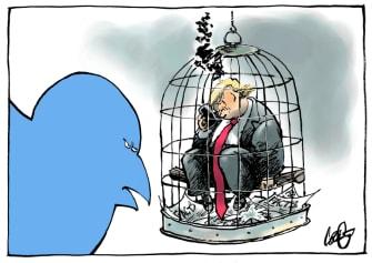 Political Cartoon U.S. Trump Twitter fact check
