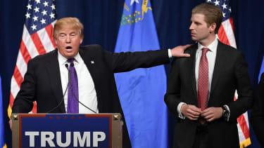 Donald Trump and son Eric Trump