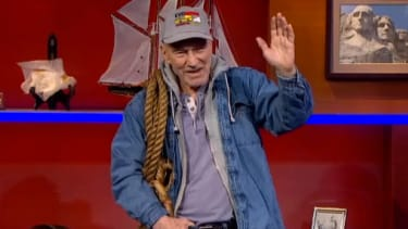 Sir Patrick Stewart made a fake anti-ObamaCare ad for The Colbert Report