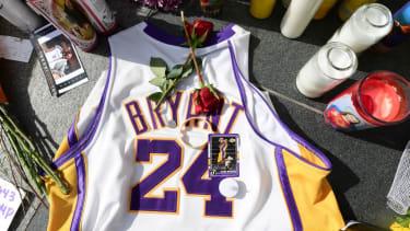A memorial to Kobe Bryant.