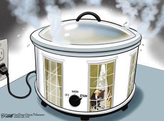 Political Cartoon U.S. Trump loss anger