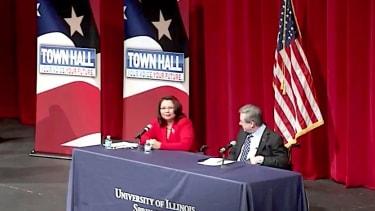 Tammy Duckworth and Sen. Mark Kirk debate