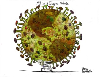 Editorial Cartoon U.S. Fauci coronavirus atlas