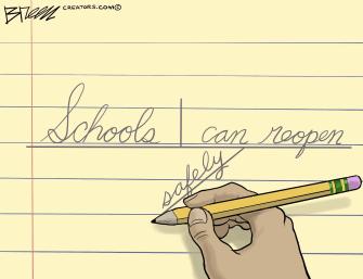 Editorial Cartoon U.S. schools covid